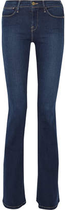 Frame Le High Flare High-rise Jeans - Mid denim