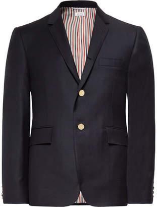 Thom Browne Midnight-Blue Slim-Fit Wool-Twill Suit Jacket
