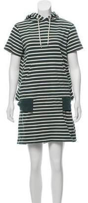 Sacai Striped Oversize Hooded Dress