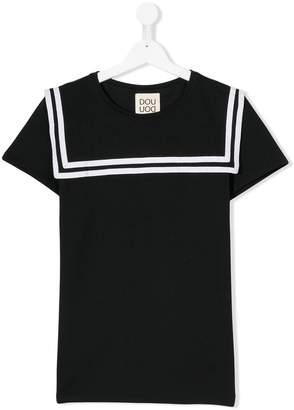 Douuod Kids Teen sailor stripe T-shirt