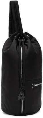 McQ Black Loveless Gym Backpack