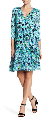 ECI 3/4 Length Sleeve Printed Dress