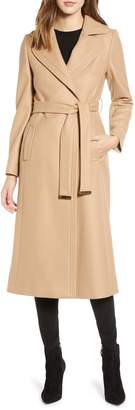 Ted Baker Wide Lapel Long Wool Coat