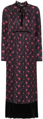 McQ Floral-printed silk midi dress