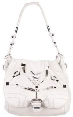 Gucci Embellished Large Techno Horsebit Flap Bag
