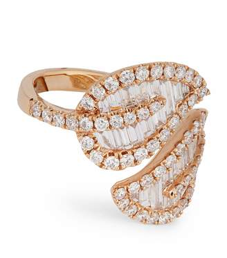 Anita Ko Large Rose Gold Leaf Ring