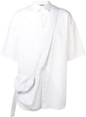 Chalayan cross body strap shirt