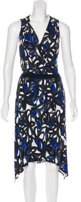 Trina Turk Printed V-Neck Dress