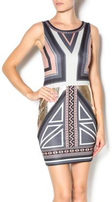 Double Zero Sleeveless Bodycon Dress