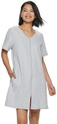 Croft & Barrow Women's Waffle Texture Zip-Front Robe