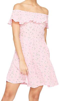 Miss Selfridge Vintage Floral Bardot Skater Dress, Pink