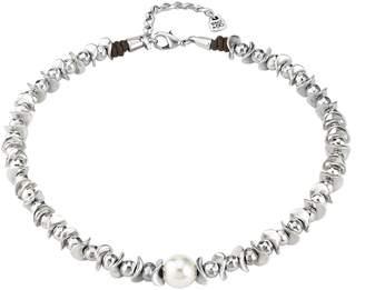 Uno de 50 Oasis Dessert Pearl Single Strand Silver Necklace