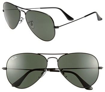 Women's Ray-Ban Original Standard 58Mm Aviator Sunglasses - Black