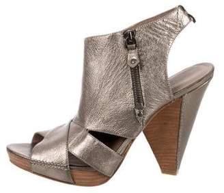 Belle by Sigerson Morrison Metallic Cutout Sandals