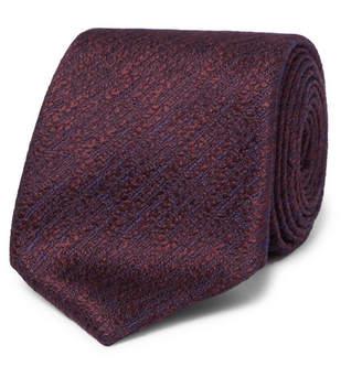 Canali 8cm Textured-Silk Tie