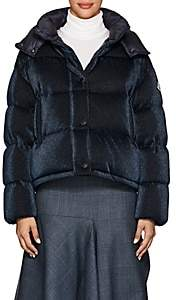Moncler Women's Caille Metallic Puffer Coat - Navy