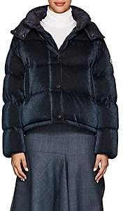 Moncler Women's Caille Metallic Puffer Coat-Navy