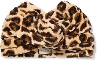 Leopard-print Velvet Turban - Leopard print