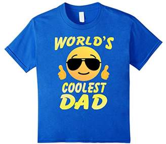Cool Face Family T-shirt World's Coolest Dad Shirt