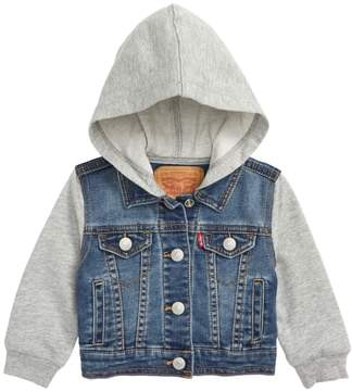 Levi's Indigo Hooded Trucker Jacket