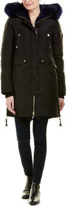 Brera Nicole Benisti Leather-Trim Down Coat