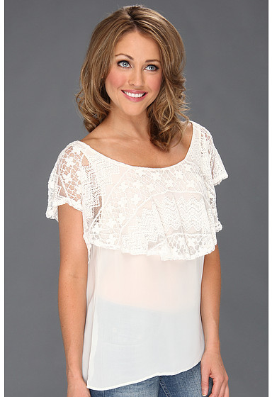 Roper 8685 Georgette & Lace Layered Blouse
