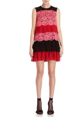 Philosophy di Lorenzo Serafini Tiered Lace Mini Dress