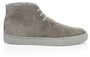 Saks Fifth Avenue Men's COLLECTION Suede& Shearling Chukka Sneakers