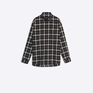 Balenciaga Lightweight checked shirt with back logo