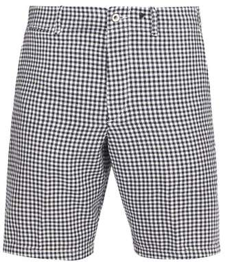 Rag & Bone Base Gingham Cotton Chambray Shorts - Mens - Black Multi