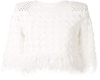 Balmain textured-knit sweater
