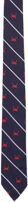 Thom Browne Navy Crab Rope Classic Tie $260 thestylecure.com
