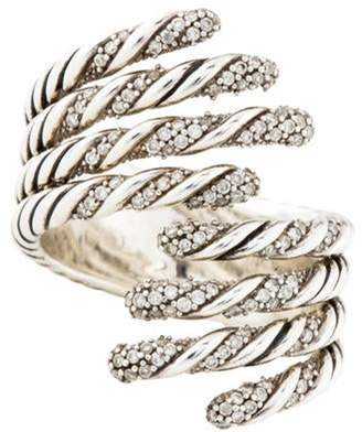David Yurman Diamond Willow Open Four Row Ring silver Diamond Willow Open Four Row Ring