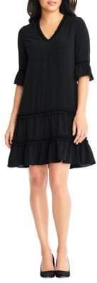 Adrianna Papell Chiffon Trapeze Dress