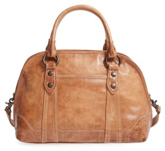 Frye 'Melissa' Domed Leather Satchel - Brown $428 thestylecure.com