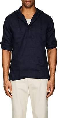 Onia Men's Hooded Linen Gauze Popover Shirt