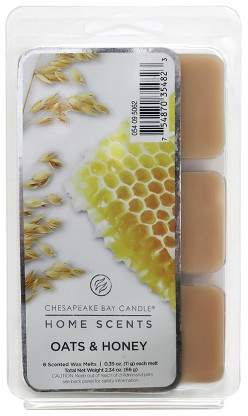 Chesapeake Bay Candle Wax Melts 6pk Oats & Honey 0.39oz