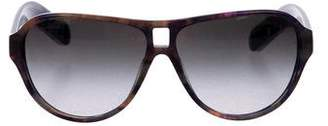 Chanel Tortoiseshell Aviator Sunglasses