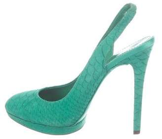 Brian Atwood Embossed Suede Pumps