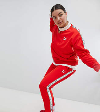 Puma Exclusive To ASOS Plus Taped Side Stripe Track Pants In Red