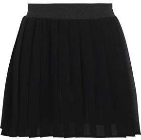 RED Valentino Pleated Chiffon Mini Skirt
