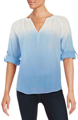 Lord & Taylor Ombre Cotton Shirt $68 thestylecure.com