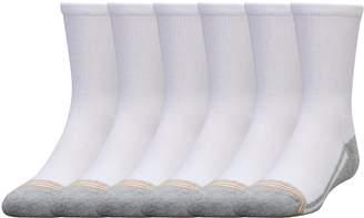 Gold Toe Big Boys' 6 Pack Athletic Crew Sock