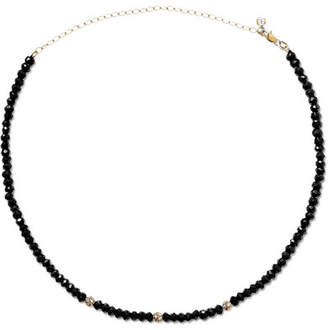 Sydney Evan 14-karat Gold, Spinel And Diamond Choker