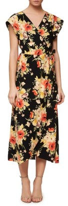 Women's Sanctuary Cassadei Floral Wrap Dress $139 thestylecure.com