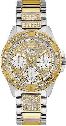 GUESS Women Two-tone Stainless Steel Bracelet Strap With Crystal Detail Watch 40MM