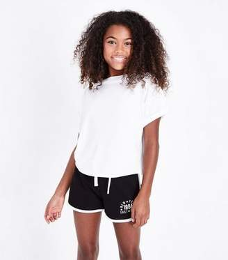 New Look Girls Black East Side Slogan Shorts