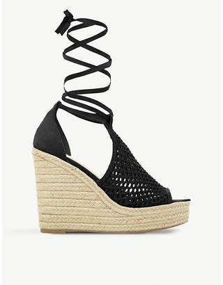 7878c4a81e97 Steve Madden Sure wraparound espadrille wedge sandals