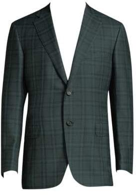Brioni Plaid Wool Jacket