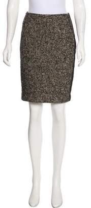 Magaschoni Tweed Knee-Length Skirt